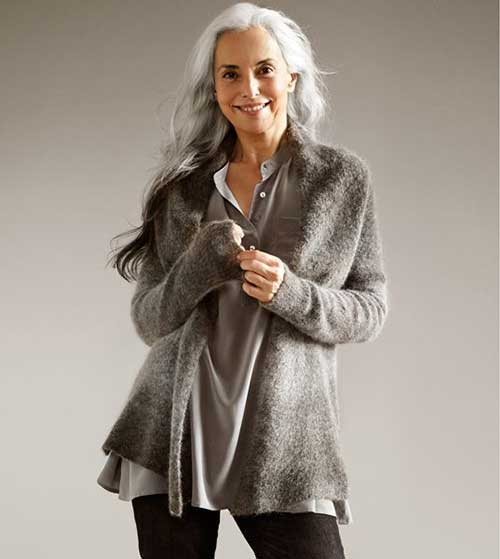 Stylish Older Women with Long Hairstyles