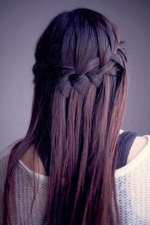 Simple Waterfall Braid