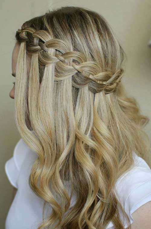 Waterfall Braid Hairstyles 2015