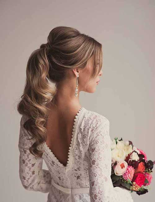 Wedding Ponytail Updo Hairstyles
