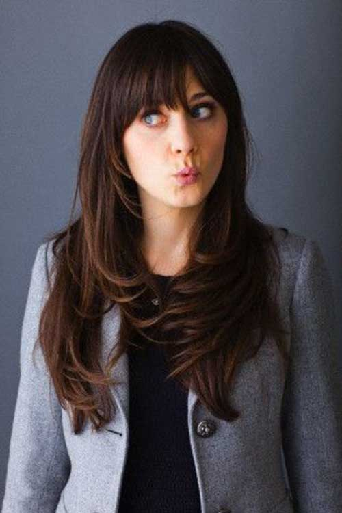 Zooey Deschanel Hair Layers Pictures