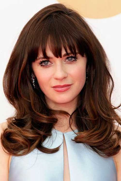 Zooey Deschanel Brunette Hair
