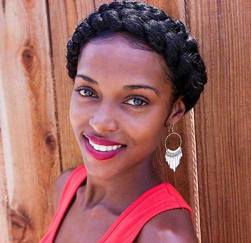 Black School Girl Natural Plaits