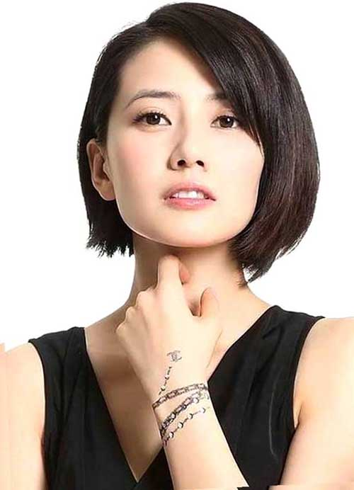 Asian Hairstyles for Round Faces-13