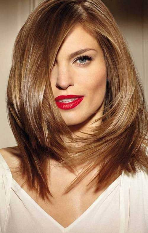 Hairstyles for Round Faces Long Hair-13