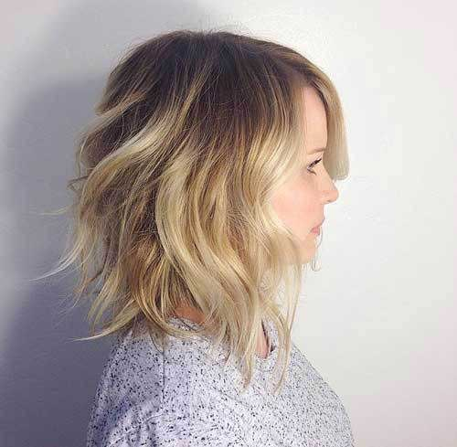 Hairstyles for Round Faces Long Hair-14