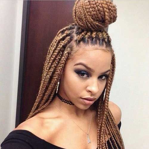 Cool 25 Afro Hairstyles With Braids Hairstyles Amp Haircuts 2016 2017 Short Hairstyles For Black Women Fulllsitofus