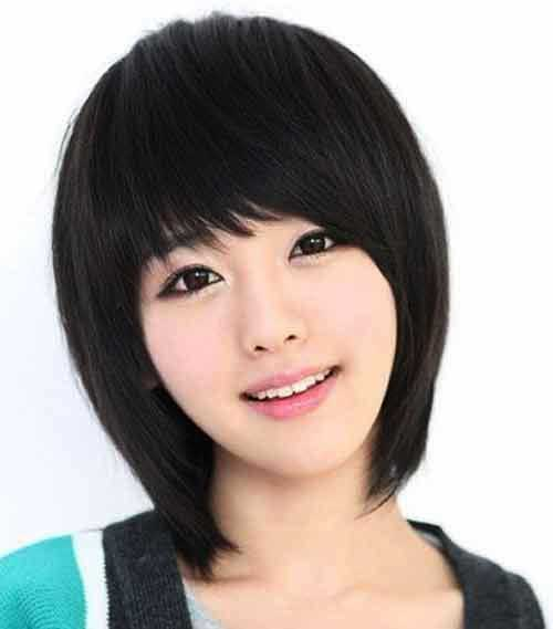 Asian Hairstyles for Round Faces-15