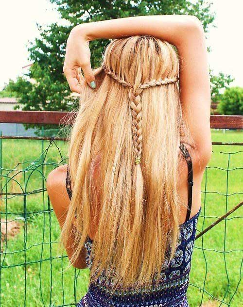 Cute Summer Hairstyles for Long Hair-15
