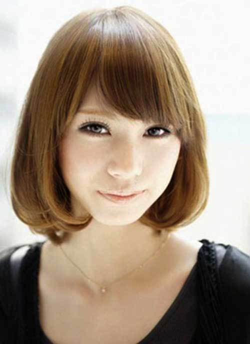 Asian Hairstyles for Round Faces-16
