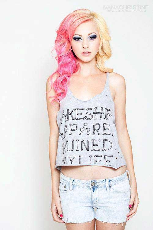 Pink Blonde Hair Color-16