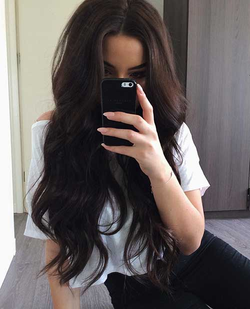 Long Dark Brown Hairstyles-19