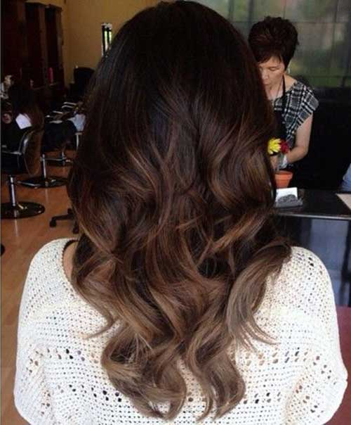 25+ Long Dark Brown Hairstyles