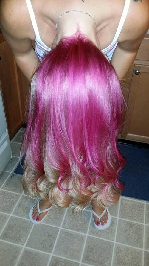 Pink Blonde Hair Color-20