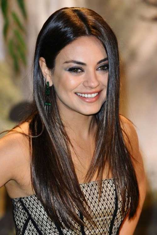 Long Dark Brown Hairstyles 21