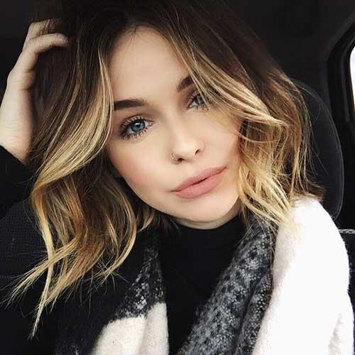 Girl blonde short hair #13