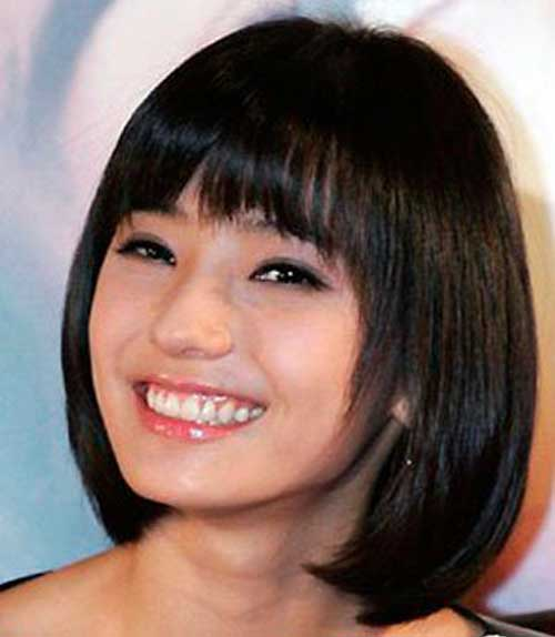 Asian Hairstyles for Round Faces-22