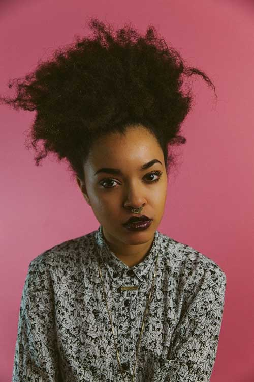 Punk Hairstyles for Curly Hair-22