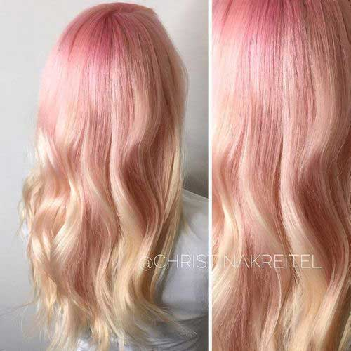 Pink Blonde Hair Color-23