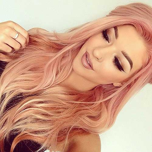 Pink Blonde Hair Color-24