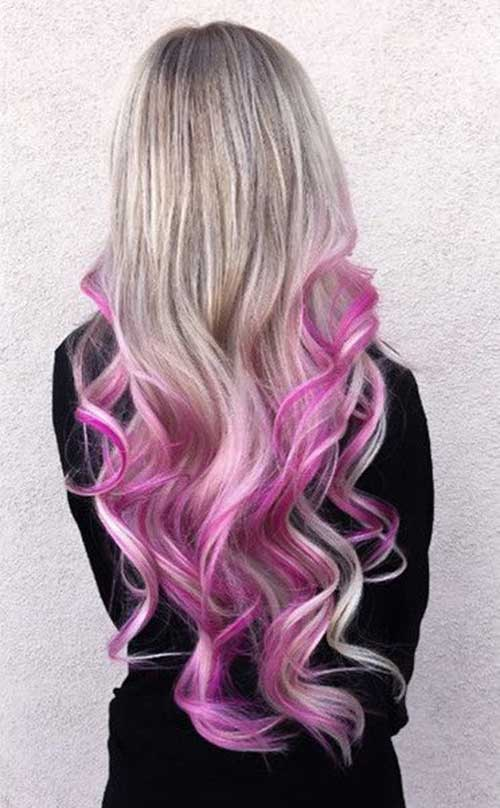 Pink Blonde Hair Color-25