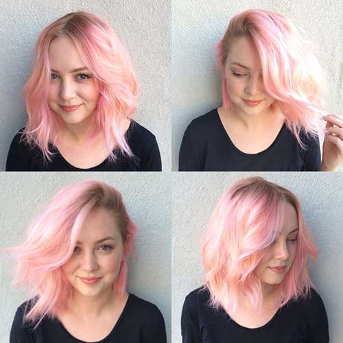 Pink Blonde Hair Color-26