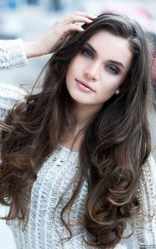 Long Dark Brown Hairstyles-27
