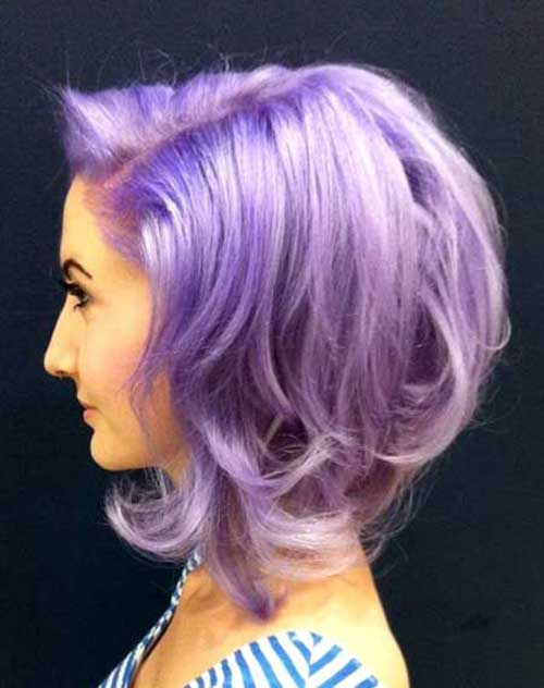 Stupendous Purple Short Hairstyles 2016 For Fall Purple Get Free Printable Short Hairstyles Gunalazisus