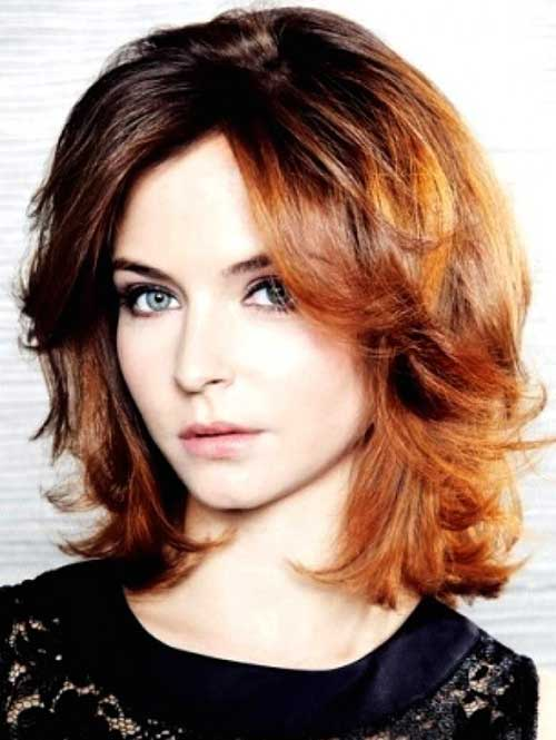 Shoulder Length Hairstyles 2017 For Round Faces : Layered hairstyles for round faces