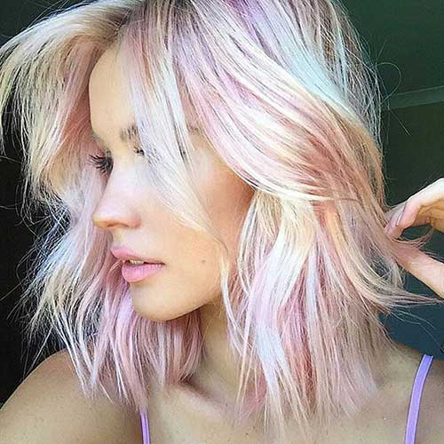 Pink Blonde Hair Color-7