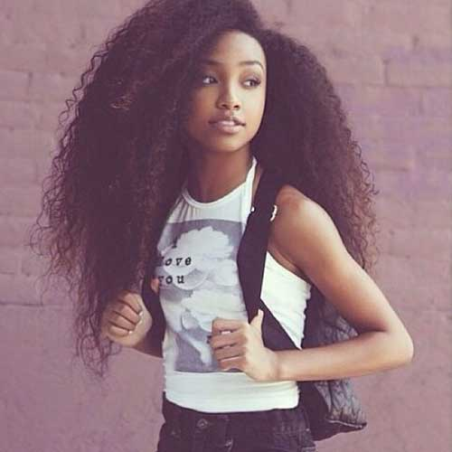 20 pretty black girls with long hair hairstyles. Black Bedroom Furniture Sets. Home Design Ideas