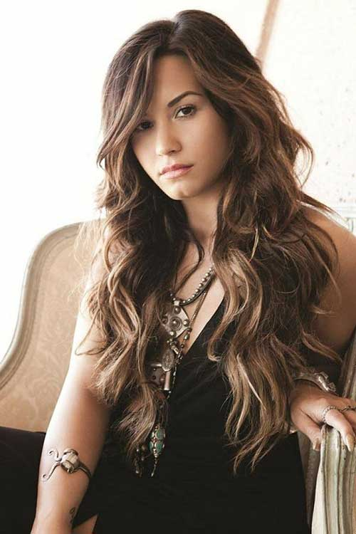 Hairstyles with Long Bangs-8