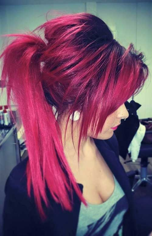 Remarkable 20 Emo Long Hair Hairstyles Haircuts 2016 2017 Short Hairstyles For Black Women Fulllsitofus