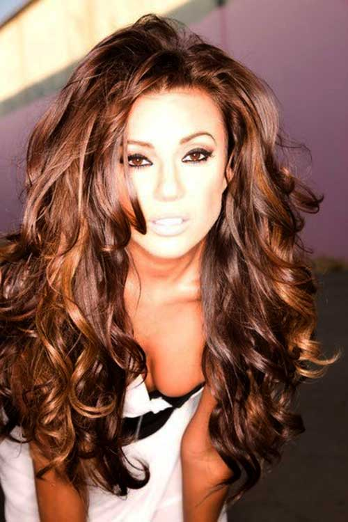 Cool 20 Girls With Long Curly Hair Hairstyles Amp Haircuts 2016 2017 Hairstyles For Women Draintrainus