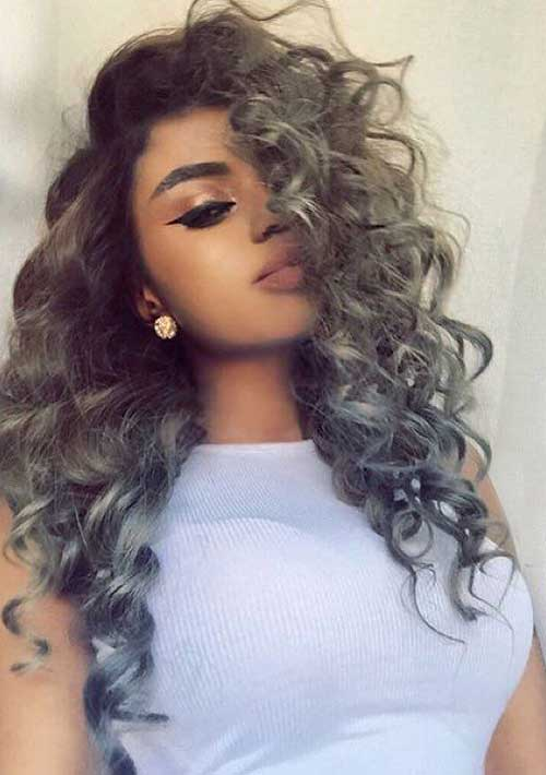 Astonishing 20 New Gray Curly Hair Hairstyles Amp Haircuts 2016 2017 Hairstyles For Women Draintrainus