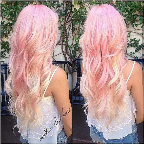 Pink Blonde Hair Color