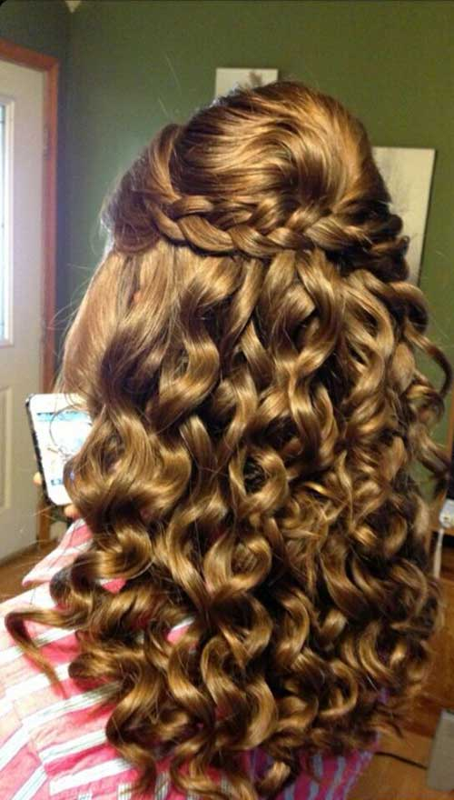 Party Hairstyles for Curly Hair-16