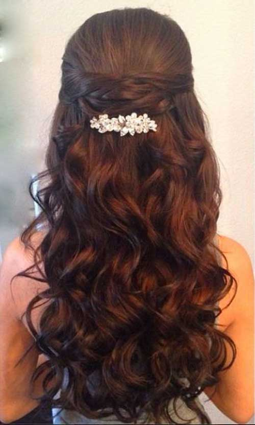 Party Hairstyles for Curly Hair-17