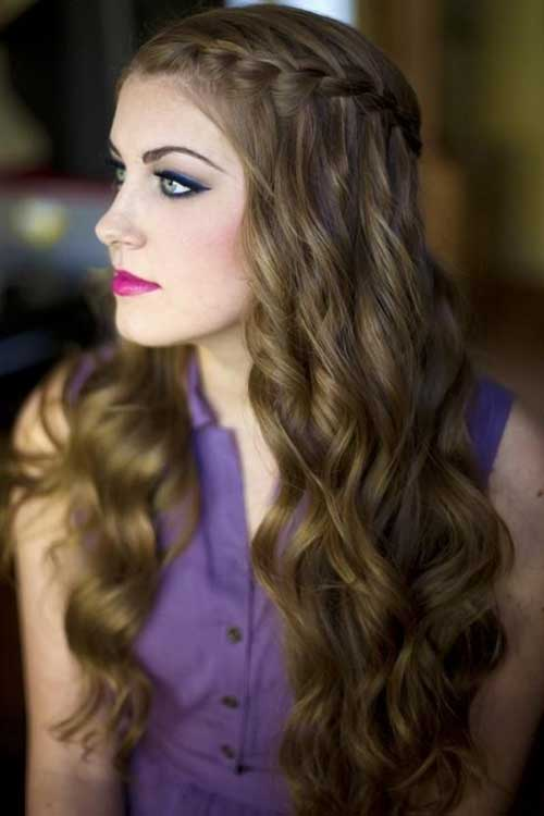 Marvelous Hairstyles For Dinner Party Part - 1: Hairstyle For Long Hair Curly Hair For Party