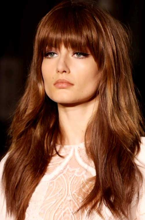Hairstyles For Long Hair Long Bangs : With Bangs Haircuts With Bangs Straight Hairstyles Hairstyles For Long ...
