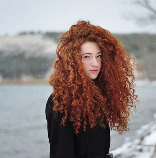 Long Red Curly Hair-12