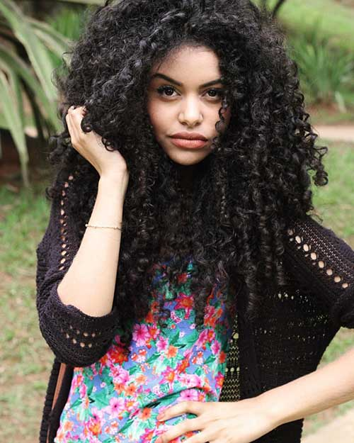 Long Natural Curly Hairstyles-13