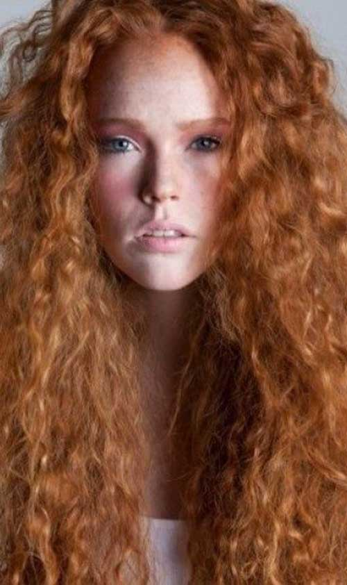 20+ Long Red Curly Hair Hairstyles & Haircuts 2016 - 2017