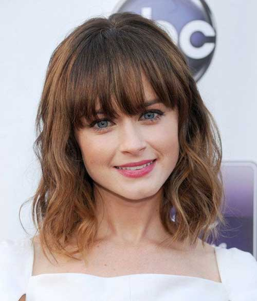 Tremendous 25 Celebrity Hairstyles With Bangs Hairstyles Amp Haircuts 2016 Short Hairstyles For Black Women Fulllsitofus