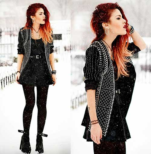 Punk Rock Hairstyles for Long Hair-14