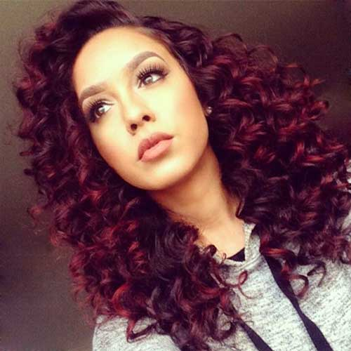 Long Red Curly Hair-15