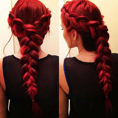 Red Long Hairstyles-15