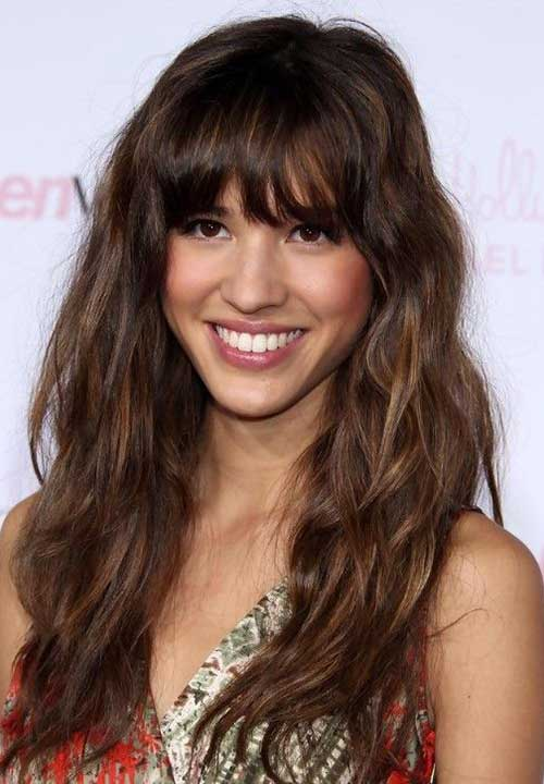 Long Hairstyles with Bangs 2015-17