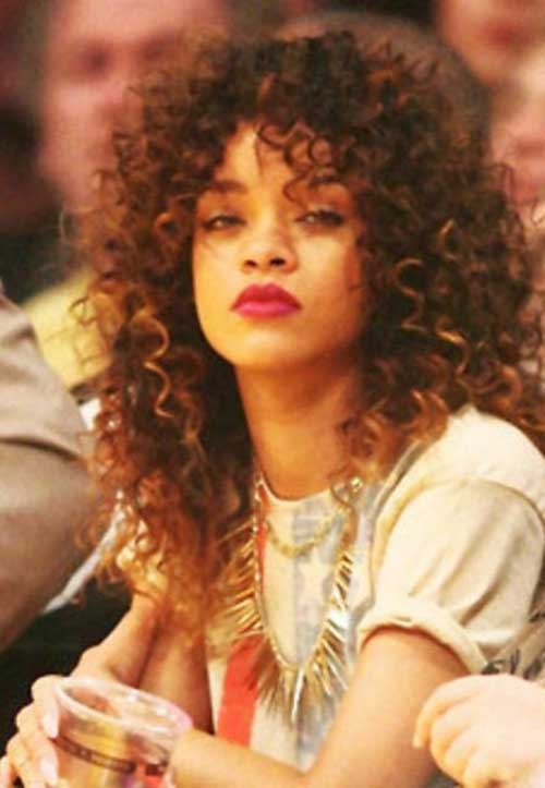 15 rihanna long curly hair hairstyles amp haircuts 2016