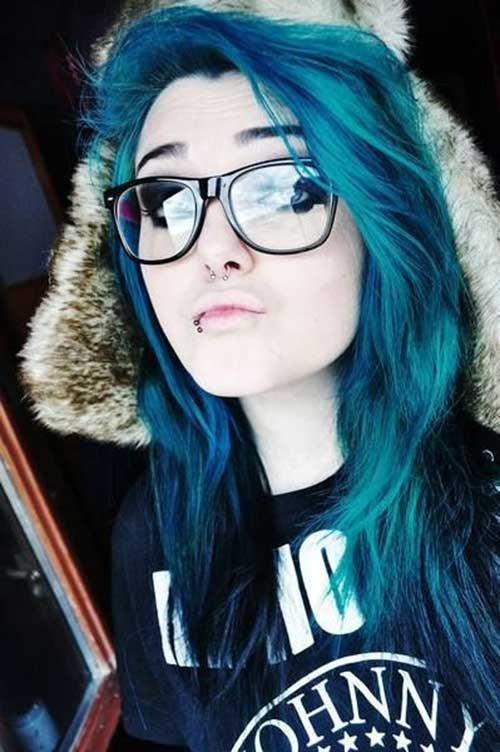 Punk Rock Hairstyles for Long Hair-19
